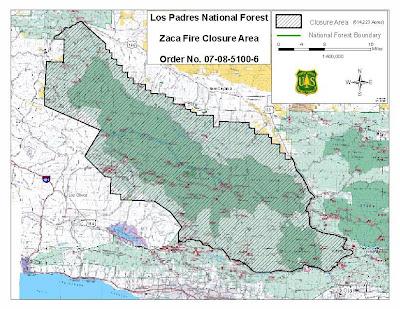 Sedgwick santa ynez valley fire map