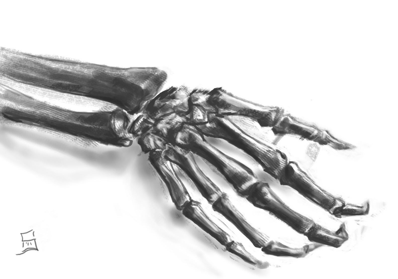 Skeleton Hand Tattoo Drawings