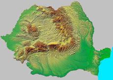 Romania - harta fizica