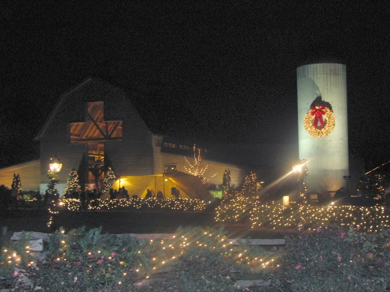 we were able to attend the christmas celebration at the billy graham library tonight starting december 1st and running through december 23rd