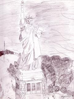 Freiheitsstatue Gezeichnet | New Calendar Template Site