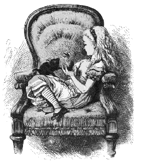 alice on chair