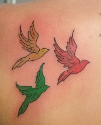 three little birds tattoo. 2. three little birds - marley