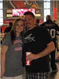 Steven and I at the Cardinals vs Saints game
