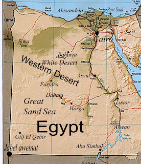 Deserts In Egypt Map