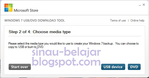 Lanjutkan ke Step 3, tancapkan Flashdisk di port USB dan pada menu