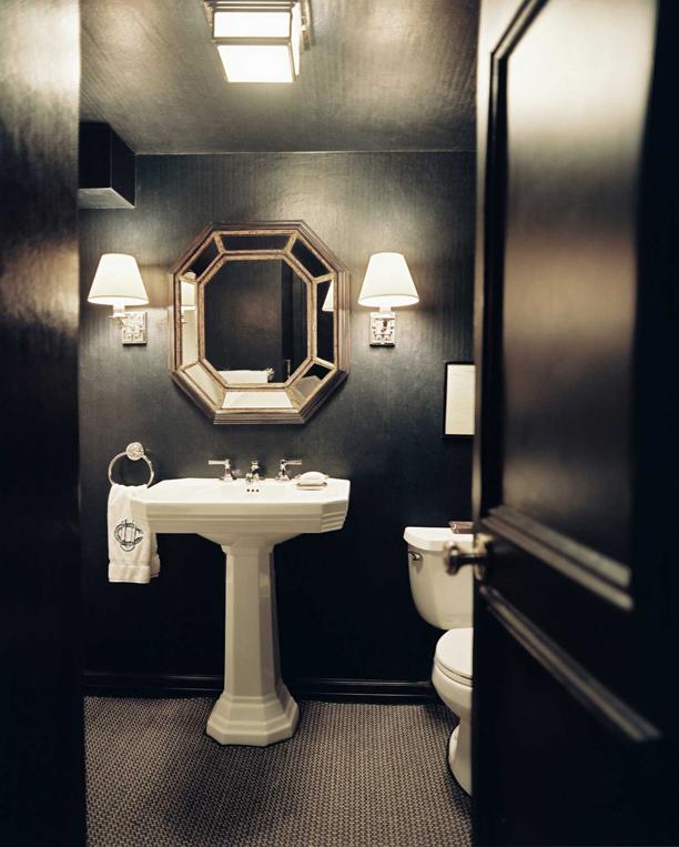 Black Ideas Design Powder Rooms With Dark Walls