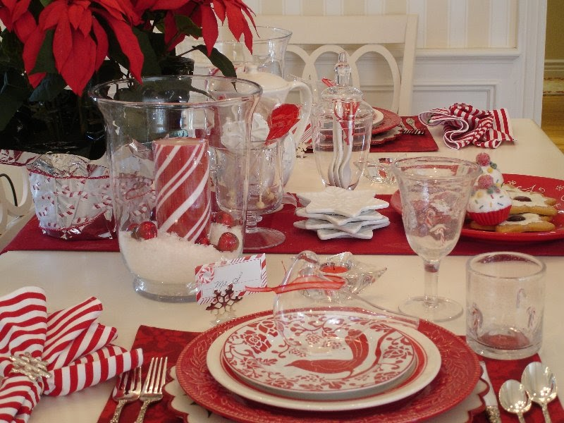 Around the House: CANDY CANE AND SNOWFLAKE CHRISTMAS