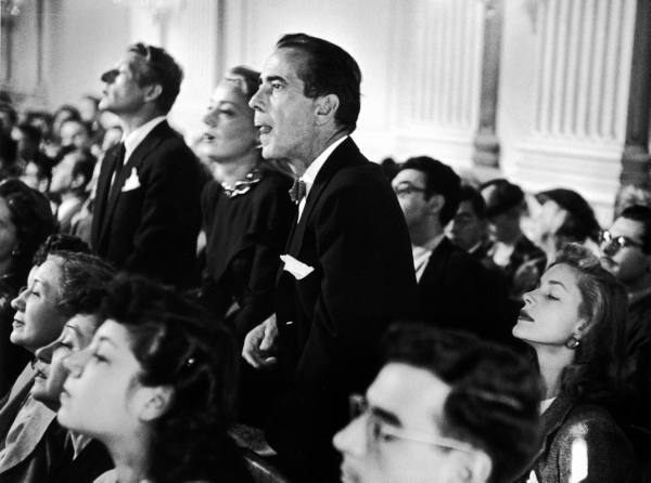 Bogart and Bacall at the HCUA hearings