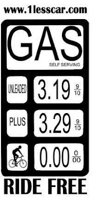 bike riding gas sign