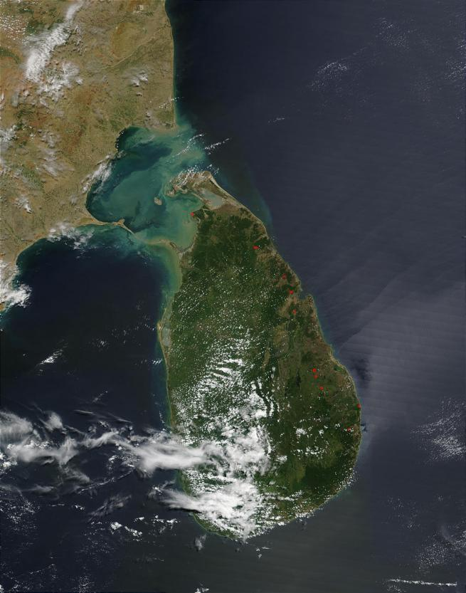 Sri Lanka Satellite Map