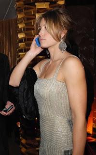 Jessica Biel on Phone