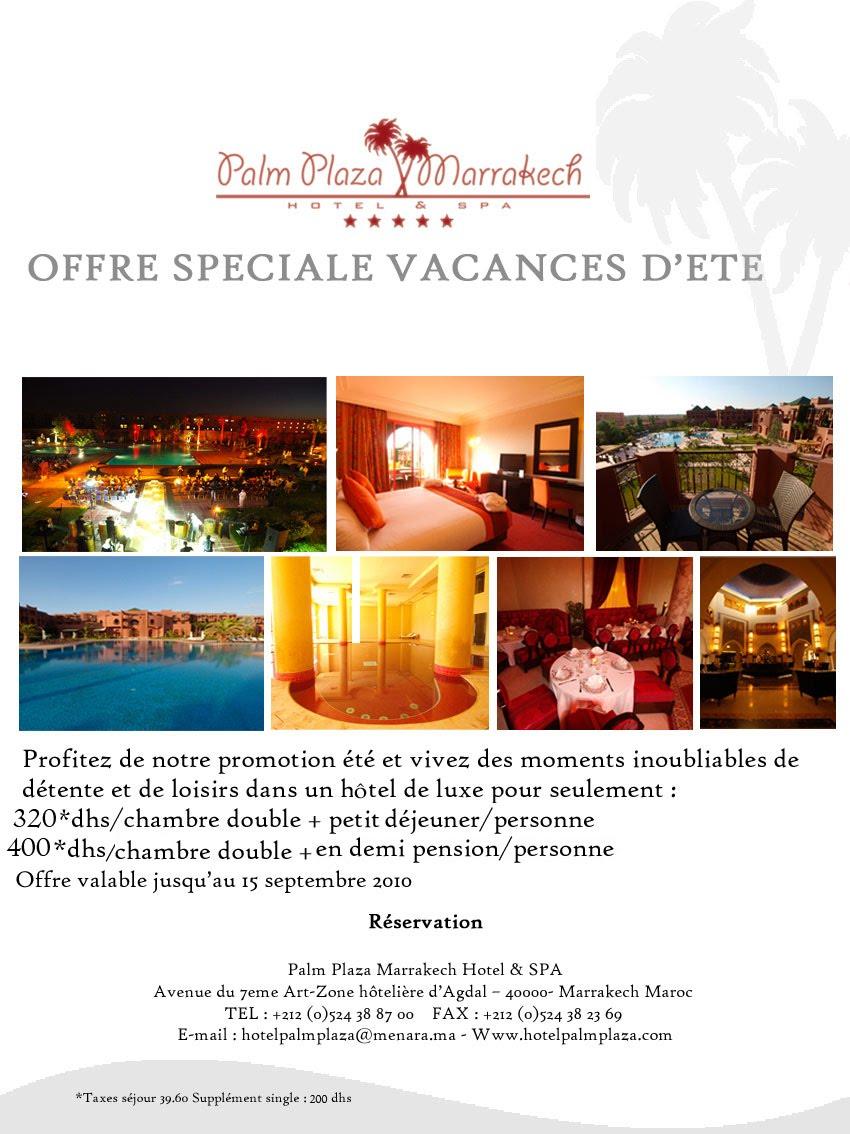 Hotel palm plaza marrakech - Hotel de luxe a prix casse ...