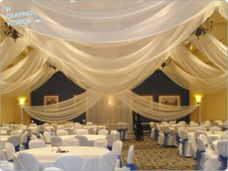 W Drapings Florida Ceiling Drapings And Wedding Chiffon
