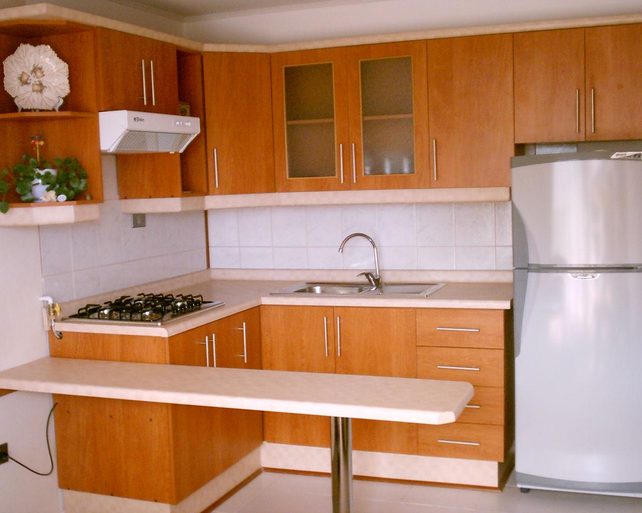 Gabinetes de cocina peque a sencillos ideas for Gabinetes en cemento