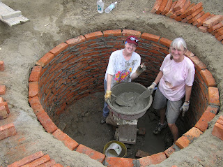 how to build a water tank with bricks
