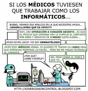 Si los médicos trabajasen como informaticos...