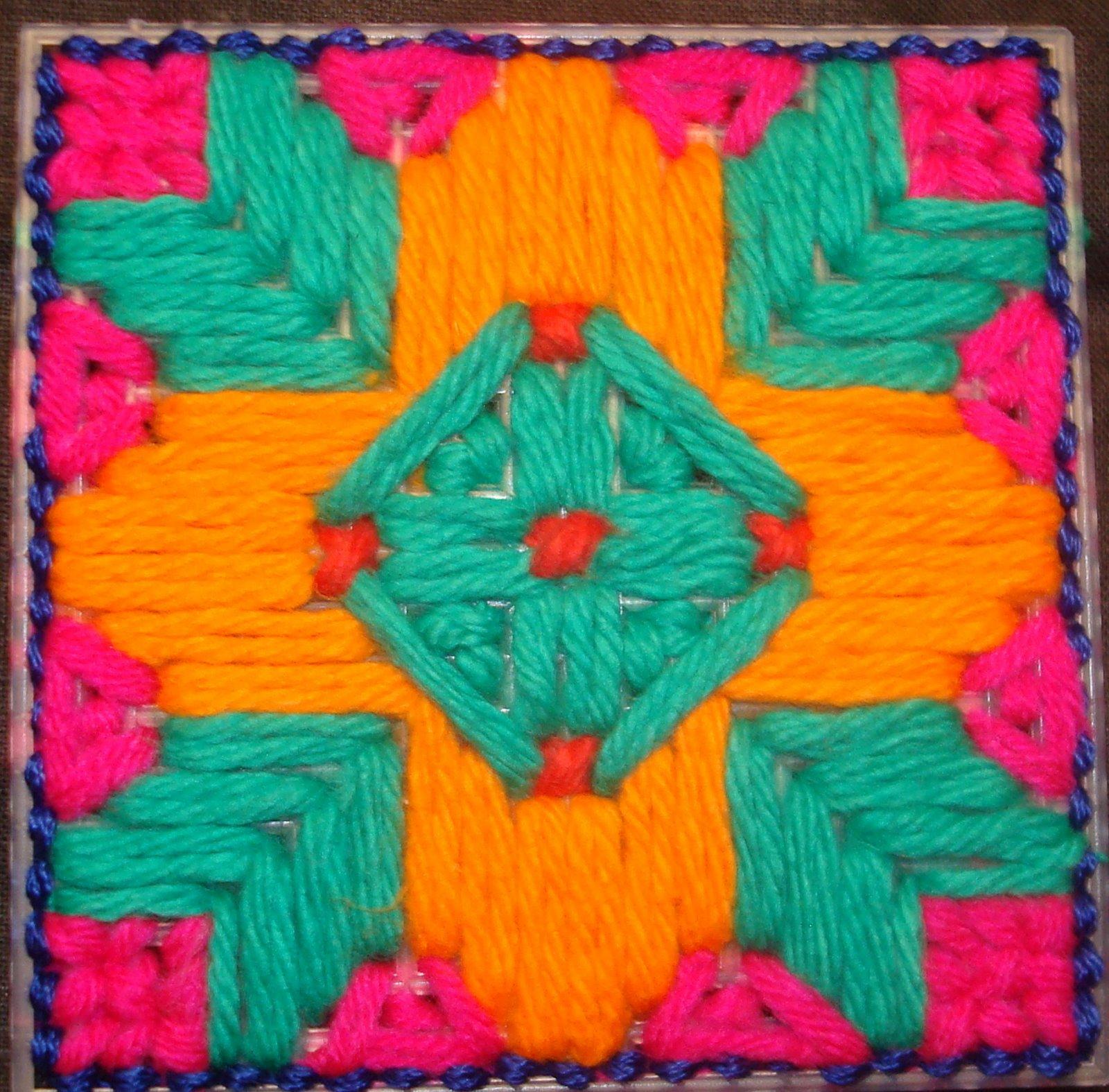 Viji 39 s craft plastic canvas design for Craft with woolen thread