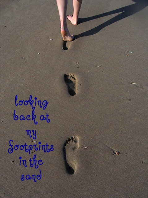 Looking Back at My Footprints in the Sand
