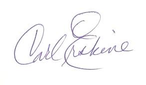 Carl Erskin autograph