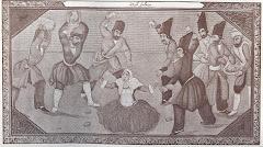 تصوير يك نقاشي از طرز سنگسار در دوره قاجار