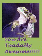 Toadally Awesome Award