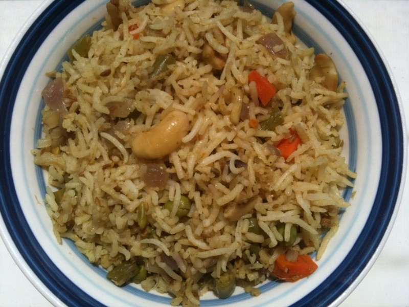 Konkani Foodie: Mom's Vegetable Pulao