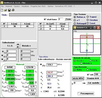 Predimensionamento de Vigas (CA) e programa VCA-SLU (Itália)