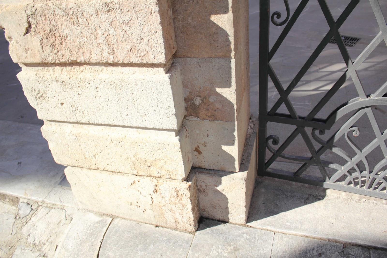 Dissesti negli archi un esempio di cedimento delle for Costo per costruire pilastri di pietra