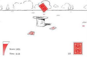 Kártya-dobáló játék