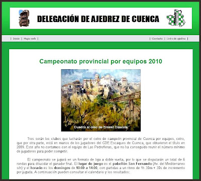 CUENCA-DELEGACION AJEDREZ-ERNEST DESCALS-PINTURAS-OLEOS