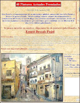 PINTORES ACTUALES-ERNEST DESCALS-PREMIOS-PINTURA-FAMILIA CHACON