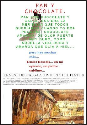 PAN Y CHOCOLATE-ERNEST DESCALS-PINTOR-SUBLIME-PEDRERA-BARCELONA