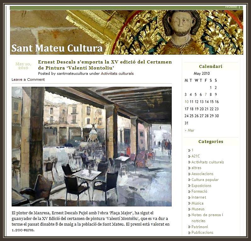 SANT MATEU-CULTURA-PREMIOS-PREMIS-PINTURA-ERNEST DESCALS