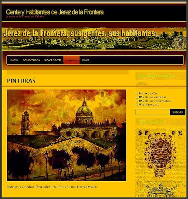 JEREZ DE LA FRONTERA-ERNEST DESCALS-PINTURA-GENTE Y HABITANTES