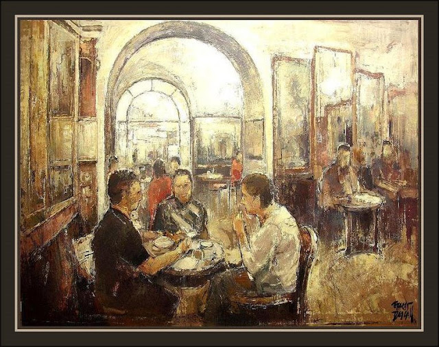 ROMA-CAFE GRECO-CAFETERIAS-PINTURAS-ERNEST DESCALS