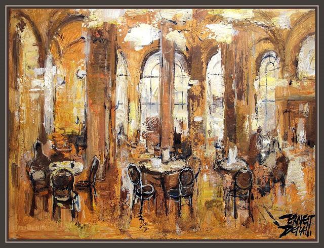 CAFE CENTRAL-VIENA-PINTURAS-CUADROS-ERNEST DESCALS