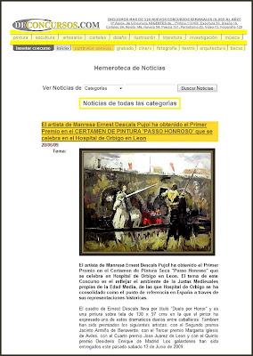 HOSPITAL DE ORBIGO-NOTICIAS-PINTURA-ERNEST DESCALS-DE CONCURSOS-