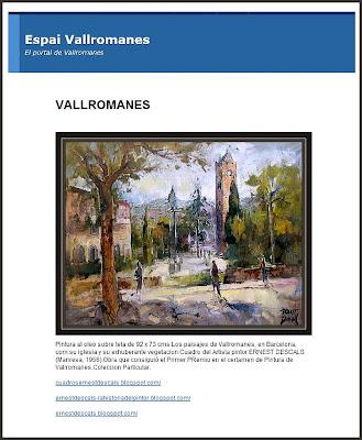 VALLROMANES-ERNEST DESCALS-PINTURAS-ESPAI VALLROMANES