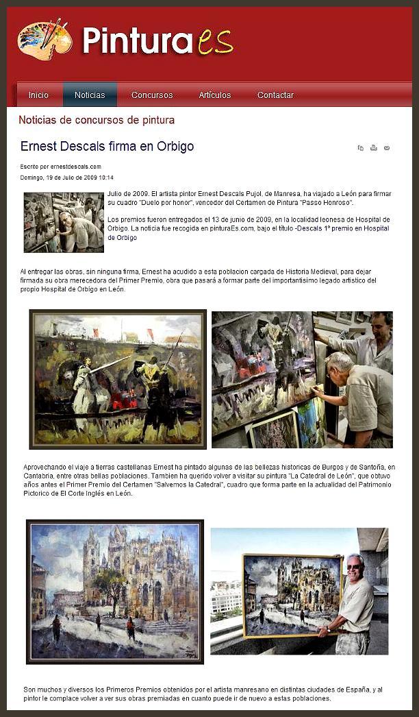 hospital de orbigo-leon-ernest descals-PREMIOS PINTURA-pintura.es