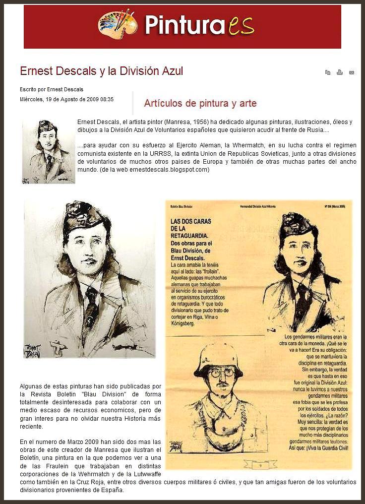 DIVISION AZUL-BLAU-ERNEST DESCALS-PINTURAS-