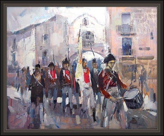 GUERRA INDEPENDENCIA-ESPAÑA-EJERCITO ESPAÑOL-ERNEST DESCALS-HISTORIA-PINTURAS