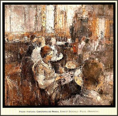 EL VENDRELL-CAFETERIA DE PRAGA-ERNEST DESCALS-PRIMER PREMIO-BIENAL-BAIX PENEDES-CONSELL COMARCAL