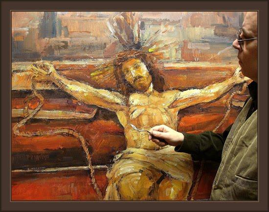 PINTURAS+RELIGIOSAS-JESUCRISTO+EN+LA+CRUZ-ERNEST+DESCALS