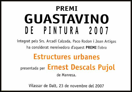 VILASSAR DE DALT-PREMIO GUASTAVINO DE PINTURA-ERNEST DESCALS