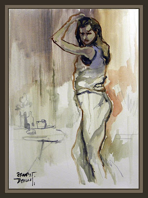 MODELO-MODEL-GIRLS-ESTUDIOS-ARTE-ART-PINTURAS-PAINTER-ERNEST DESCALS