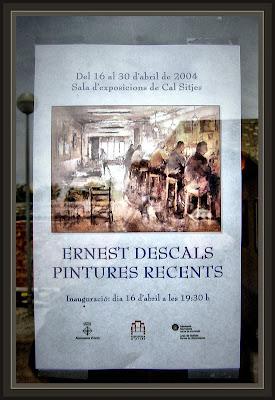ARTES-BAGES-BARCELONA-CARTEL-EXPOSICION-EXPOSICIONES-PINTURA-ERNEST DESCALS