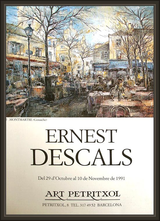 BARCELONA-EXPOSICION-ART-PETRITXOL-MONTMARTRE-PARIS-PINTURA-ERNEST DESCALS