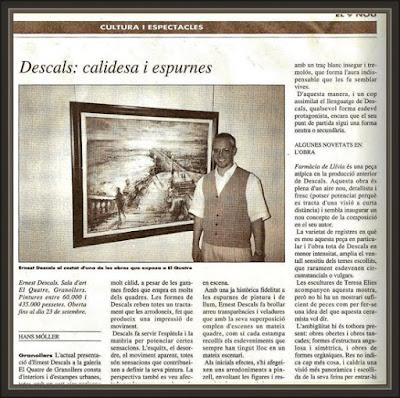 HANS MOLLER-GRANOLLERS-EL QUATRE-9 NOU-DIARIS-EXPOSICIONES-PINTURA-PINTOR-ERNEST DESCALS