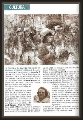 GRANOLLERS-REVISTA-VALLES-EL QUATRE-EXPOSICIONES-PINTURA-PINTOR-ERNEST DESCALS